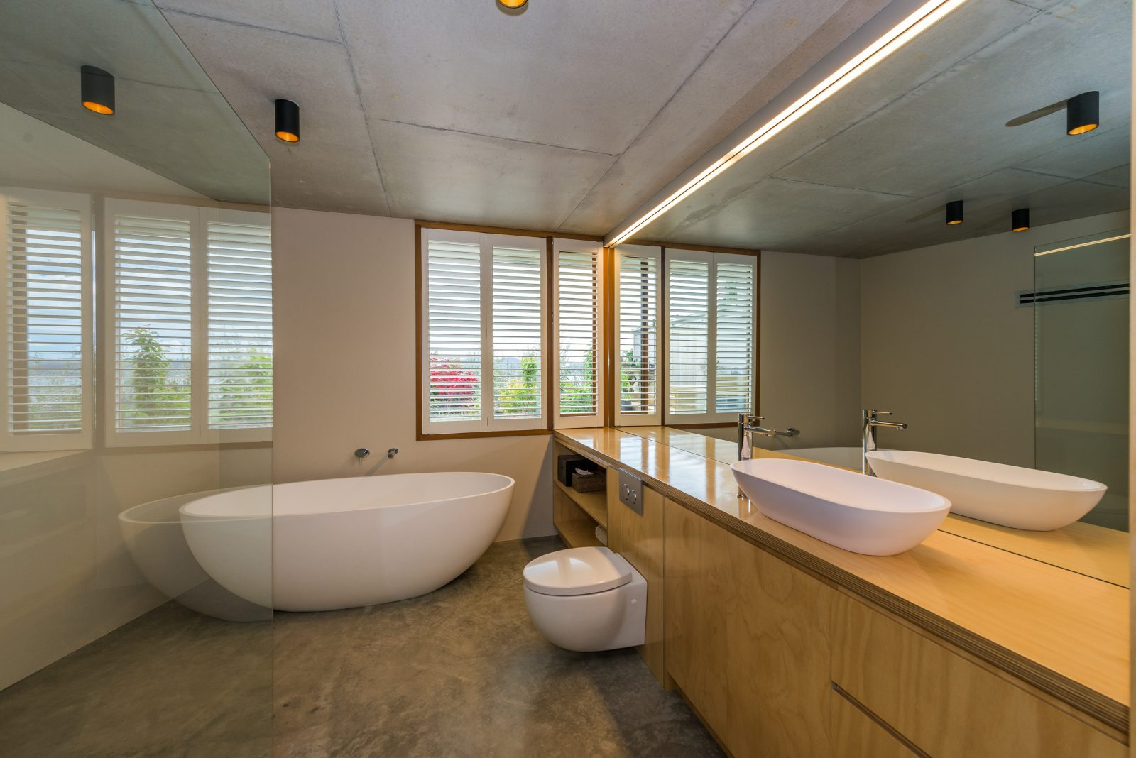 A bathroom fitout in Sandy Bay done by Casa Mondé lighting Hobart